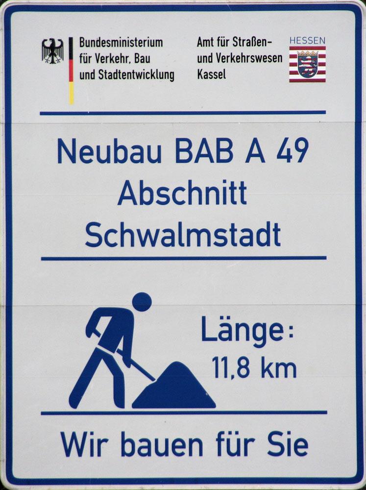 A49-Bauschild